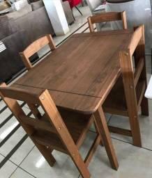 Conjunto mesa Kasper 4 cadeiras