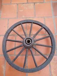 Roda de Carroça para Luminária Rústica