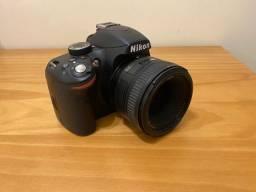 Nikon D3200 + Lente AF-S Nikkor 50 mm 1:1.8G