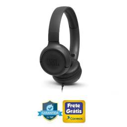 Headphone JBL Tune 500 Preto C/ Microfone (Ac cartoes)