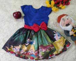 Vestido Minnie + Laço De Brinde