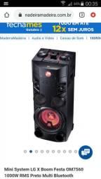 Mini System Torre LG 1000w USB MP3 Bluetooth OM7560