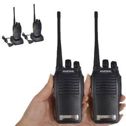 Kit Radio Comunicador Profissional Longo Alcance Fone Ht Uhf