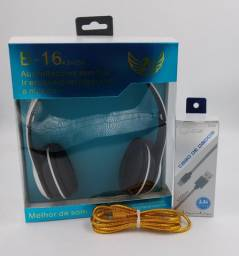 Fone Bluetooth Altomex B-16 Sem Fio Atende Ligação+Cabo v8