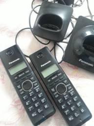 Telefone sem fio Panasonic com segunda base auxiliar!