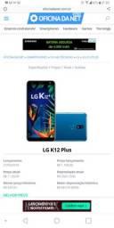 LG K12 PLUS COM CARREGADOR DE FABRICA...
