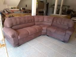 Vendo esse sofá fabricado de canto cor chocolate sued liso