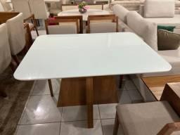 Mesa Santos completa pronta entrega de 4 cadeiras resistente de madeira maciça
