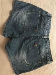 02 shorts jeans feminino