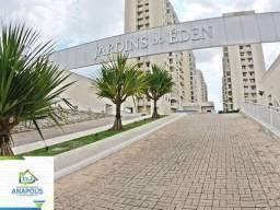 Apartamento no Jardins do Éden I, 2/4 sendo 1 suíte, 59 m² / Jardim das Américas 2 Etapa