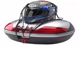 Rede Elástica Aranha Motocicleta Capacete 45x45 Cm Preto