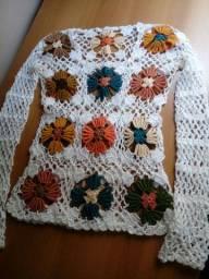 Blusa lindas de crochê Tamanho P ENTREGO SOMENTE SHOPPING WALLIG