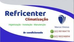 Ar condicionado , manutenção e limpeza higienização