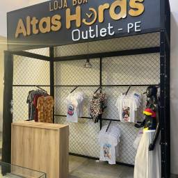 Outlet Altas horas loja box ao lado do moda center Santa Cruz