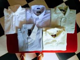 Lote de camisas social masculinas tamanho 5. G. * ZAP OI.