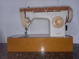 Máquina de costura singer doméstica reta e zig zag na base portátil com garantia