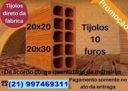 Título do anúncio: Carrada de tijolos de luxo com a melhor qualidade e menor preço