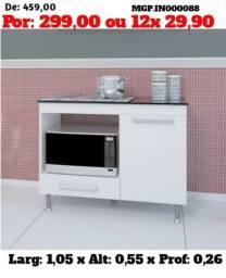 Balcão de Microondas e Nicho - Microondas ou Forno Eletrico - Balcão de Cooktop e Cooktop