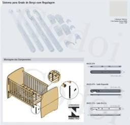 Conjunto Regulador Grade Móvel De Berço 25mm (NOVO)