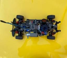 NITRO 4-TEC C/ 2 RÁDIO  E MOTOR TRX 3.3 (CINZA) SEMI-NOVO COMPLETO COM 2 BOLHAS