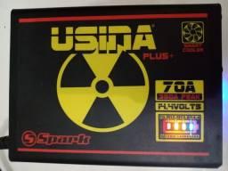 Fonte usina 70A na caixa