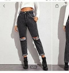 Calça jeans cinza da SHEIN