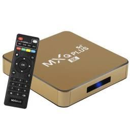Tv Box Original Modelo Plus 5G 8K Dourado / Marca: MXQ