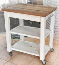 Mesa de apoio deslocável para cozinha (ou churrasco)
