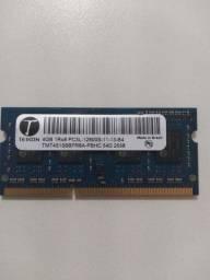 Memoria pc3L 4GB 12800 USADA NOTEBOOK