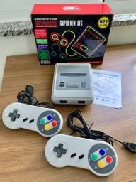 Emulador Nintendo 8 Bit (Mini SFC Retrô) c/ 2 Controles + 621 Jogos