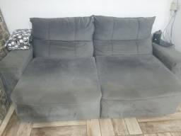 Sofa Cinza retrátil