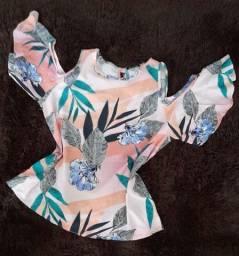 Blusa ciganinha estampada da Monteiro