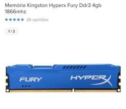 Kit upgrade processador Fx 6300 + 2 memória 4gb hyperx + placa mãe M5a78l am3
