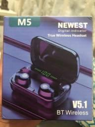 Novo Modelo fone de ouvido sem fio tws 5.1v
