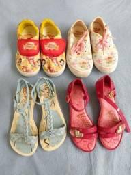 4 calçados Tam.28