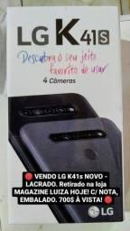 Celular LG. K41s - Preto. Novo, lacrado.