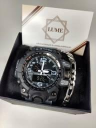 Relógios gshock + super brinde pulseira em aço inoxidável 7debb616340