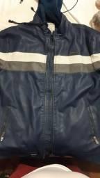 Vendo jaqueta azul couro legítimo