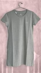 Vestido básico feminino manga curta modelador corporal algodão