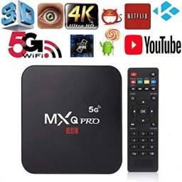 TVBOX Mxq Pro 4k 5G 64Gb memoria interna/4 Gb RAM