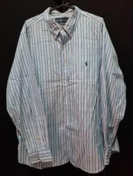 Camisa Ralph Lauren XL (18 34/35) azul listrada.