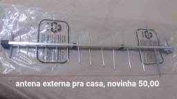 Antena externa sem uso