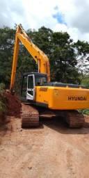 Escavadeira hidráulica Hyundai 210 LR long reach