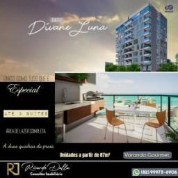 Lançamento Edf Divane Luna - Ponta verde - 3 quartos e financiamento direto com a construt