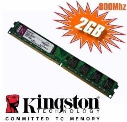 Memória Kingston Ddr2 2gb 800 Mhz Pc2 6400 2gb Ddr2 Desktop