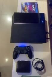 PS4 500MB + HD EXTERNO 500 MB Samsung