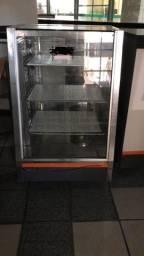 Balcão expositor estufa vitrine loja lanchonete bar restaurante