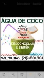 Água de coco congelada