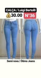 Desapego - Calça Jeans Luige - Somente M / 36 - Entrego