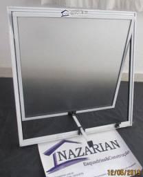 Vitro maxim ar vidro mini boreal aluminio brilhante 60x60cm Fortline